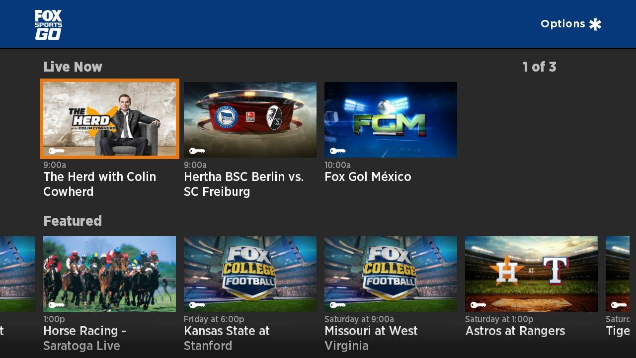 FoxSports.com on Roku